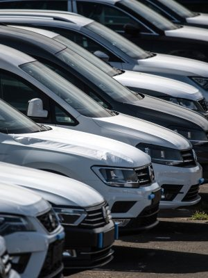 SHEERNESS, ENGLAND - MAY 09:  Newly imported cars from the European Union wait to be delivered to customers after being shipped to Sheerness port, on May 9, 2017 in Sheerness, England. A motor industry lobby group says failure to secure single market access after Brexit could cost 4.5bn GBP a year in import and export tariffs with claims that cars could cost 1,500 GBP more after single market exit.  (Photo by Carl Court/Getty Images)